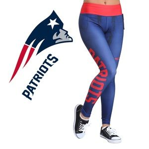 New! New England Patriots Marbled Leggings